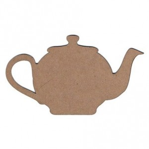 Chipboard Embellishments - Teapot