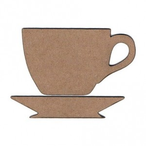 Chipboard Embellishments - Teacup & Saucer