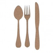 Chipboard Embellishments - Knife, Fork & Spoon
