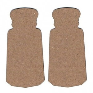 Chipboard Embellishments - Salt & Pepper Shakers