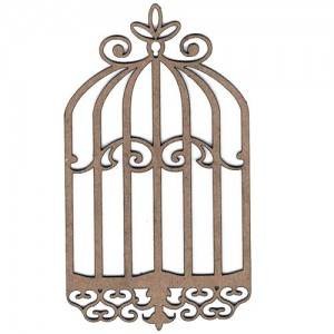 Chipboard Embellishments - Bird Cage