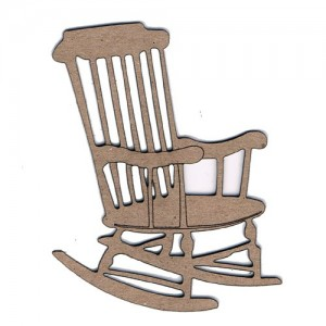 Chipboard Embellishments - Rocking Chair