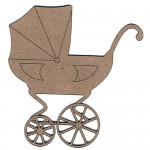 Chipboard Embellishments - Baby Carriage