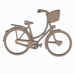 Chipboard Embellishments - Vintage Bike