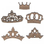 Chipboard Embellishments - Crown Set