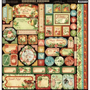 12 Days of Christmas - Cardstock Stickers