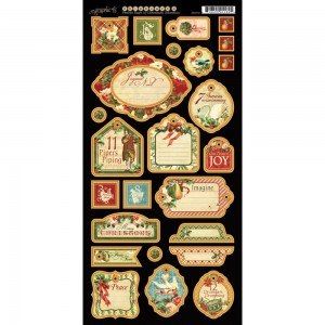 12 Days of Christmas  - Chipboard Tags 2
