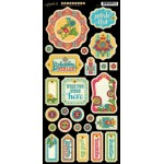 Bohemian Bazaar Die Cut Chipboard Tags - 1