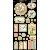 Botanical Tea  - Chipboard Tags 1