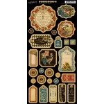 French Country Die Cut Chipboard Tags - 1