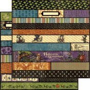 Halloween in Wonderland - Borders 12x12 Sheet