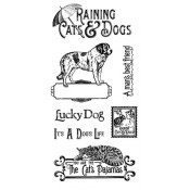Raining Cats and Dogs - Cling Stamp 1