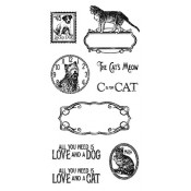 Raining Cats and Dogs - Cling Stamp 2