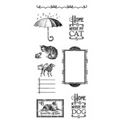 Raining Cats and Dogs - Cling Stamp 3