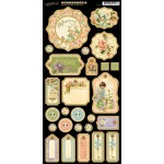 Secret Garden Die Cut Chipboard Tags - 1