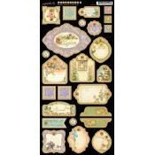 Secret Garden Die Cut Chipboard Tags - 2