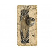 Metal Door Plate and Knob - Ornate