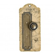 Metal Door Plate and Knob - Geometric