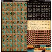 (Pre-order) Steampunk Spells Alphabet Stickers