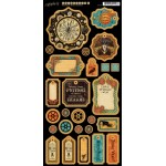 Steampunk Spells Die Cut Chipboard Tags - 1