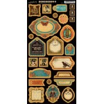 Steampunk Spells Die Cut Chipboard Tags - 2