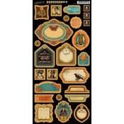 (Pre-order) Steampunk Spells Die Cut Chipboard Tags - 2
