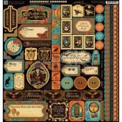 (Pre-order) Steampunk Spells Cardstock Stickers