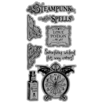 Steampunk Spell - Cling Stamp 1