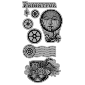 (Pre-order) Steampunk Spell - Cling Stamp 2