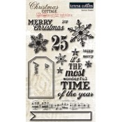 Christmas Cottage Clear Acrylic Stamps
