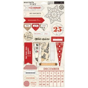 Santa's List - 6x12 Chipboard