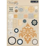 Vintage Finds Die Cut Chipboard Stickers - Elements 2