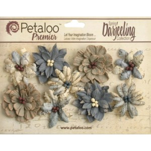 Darjeeling - Medium - Wild Blossoms - Soft Grey