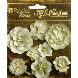 Penny Lane - Mixed Blossoms - Antique Green