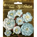 Penny Lane - Mixed Blossoms - Robin Egg Blue