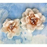 Almond Odette Fabric Flowers
