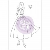 (Pre-Order) Mixed Media Doll Cling Stamp - Rita