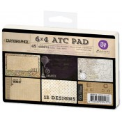 "Cartographer - 4"" x 6"" ATC Pad"
