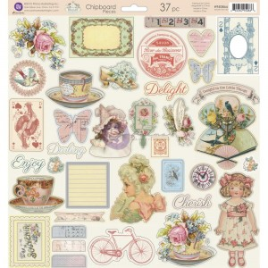 "Delight Chipboard Stickers 12""X12"""