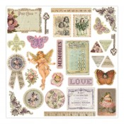 "Fairy Rhymes Chipboard Stickers 12""X12"""