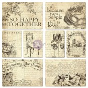 Everyday Vintage Pocket Paintables Cards - So Happy Together