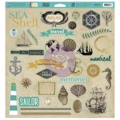 Seashore - Chip Board Pieces