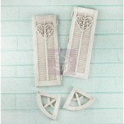 Shabby Chic Resin Treasures Large Window Shutters