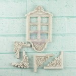 Shabby Chic Resin Treasures Window Decor