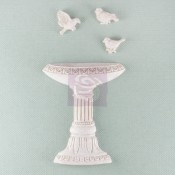 Shabby Chic Resin Treasures Bird Bath