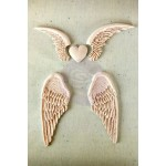 Shabby Chic Resin Treasures Angel Wings