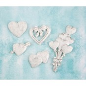 Shabby Chic Resin Treasures - Hearts