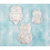 Shabby Chic Resin Treasures - Large Owls