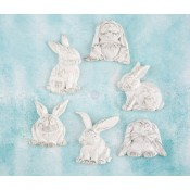 Shabby Chic Resin Treasures - Rabbits
