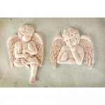 Shabby Chic Resin Treasures - Cherub With Bird